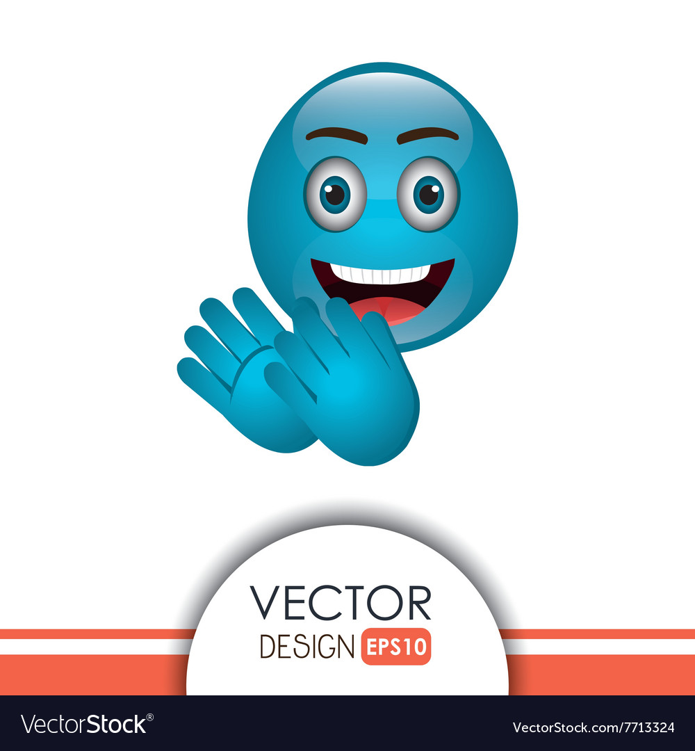 Funny emoticon design vector