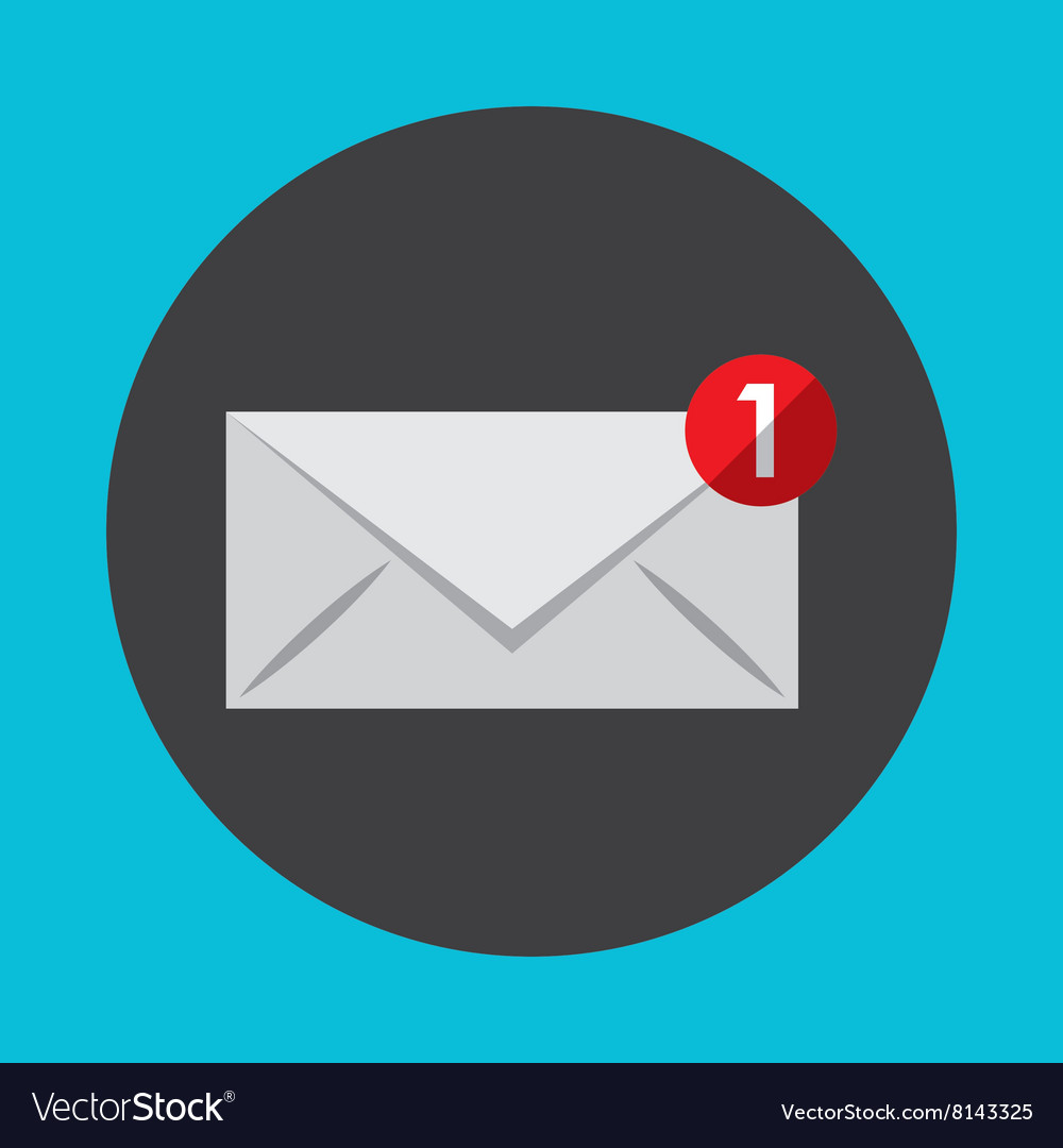 Email notification design vector