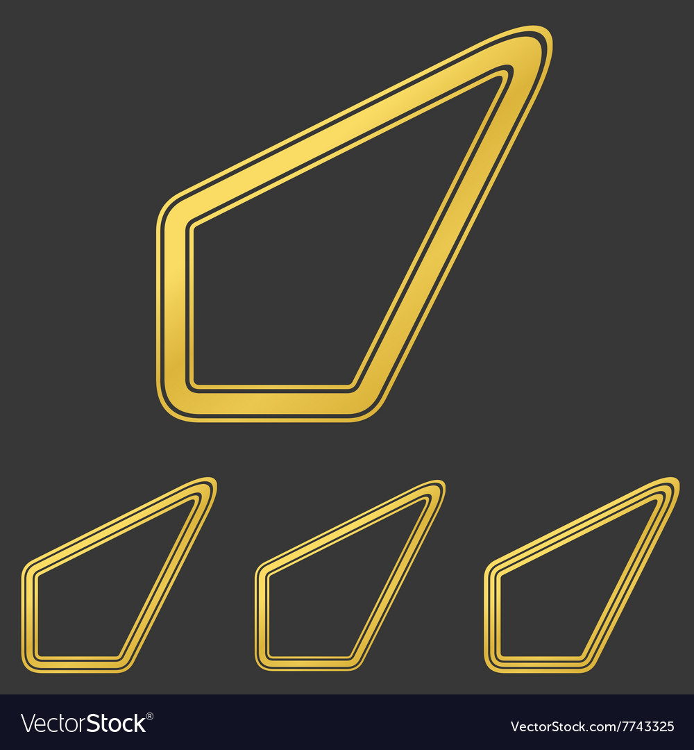 Golden line success logo design set vector