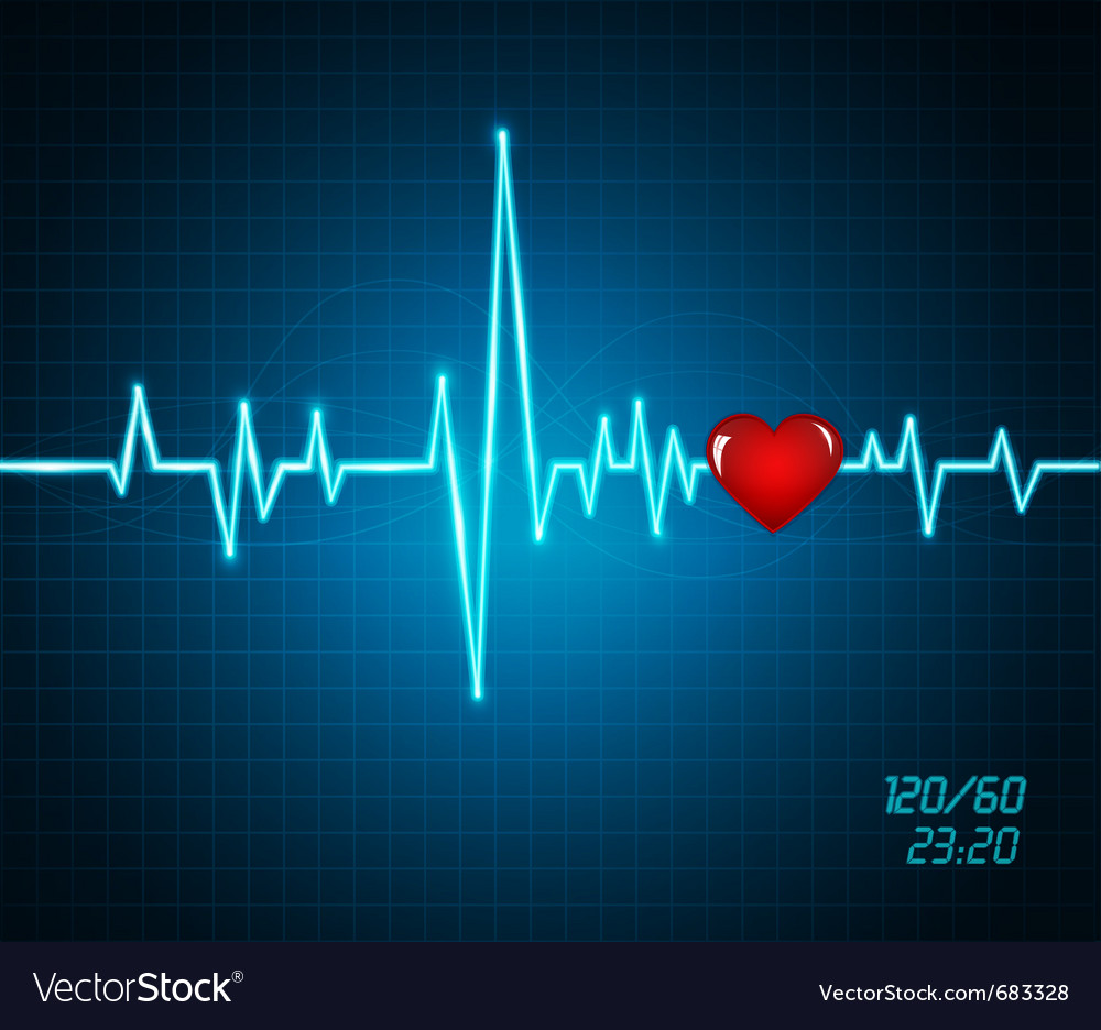 Background with heartbeat monitor vector