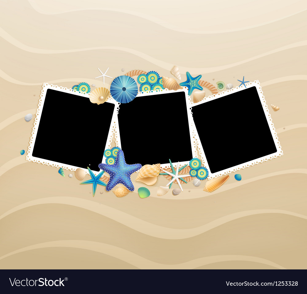 Photo on sand vector