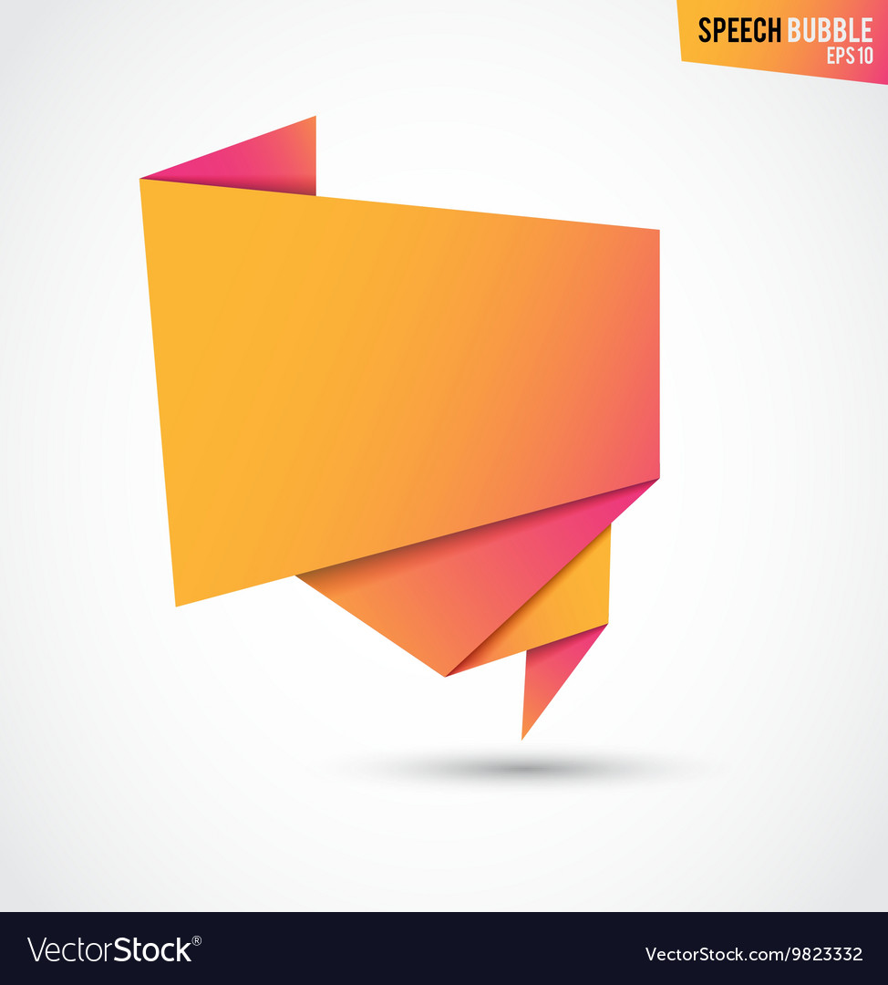 Abstract orange banner isolated on the white vector
