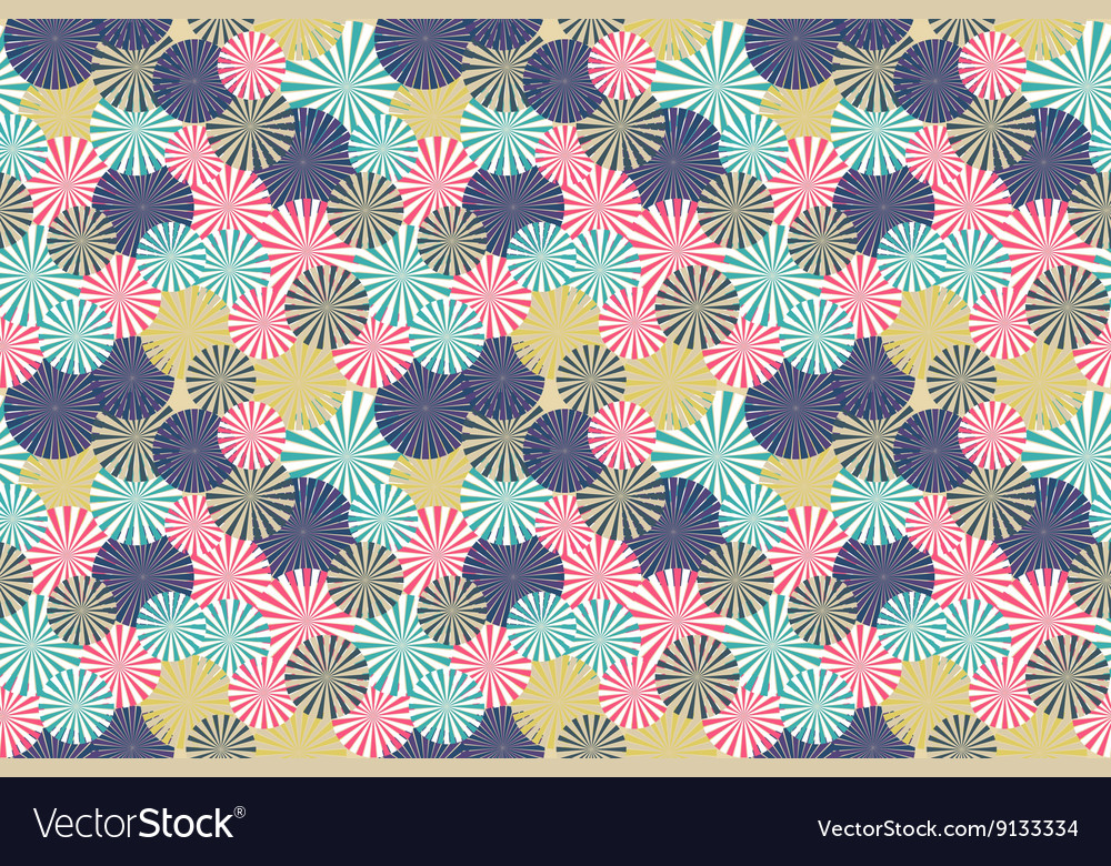 Abstract circle flower seamless pattern background vector