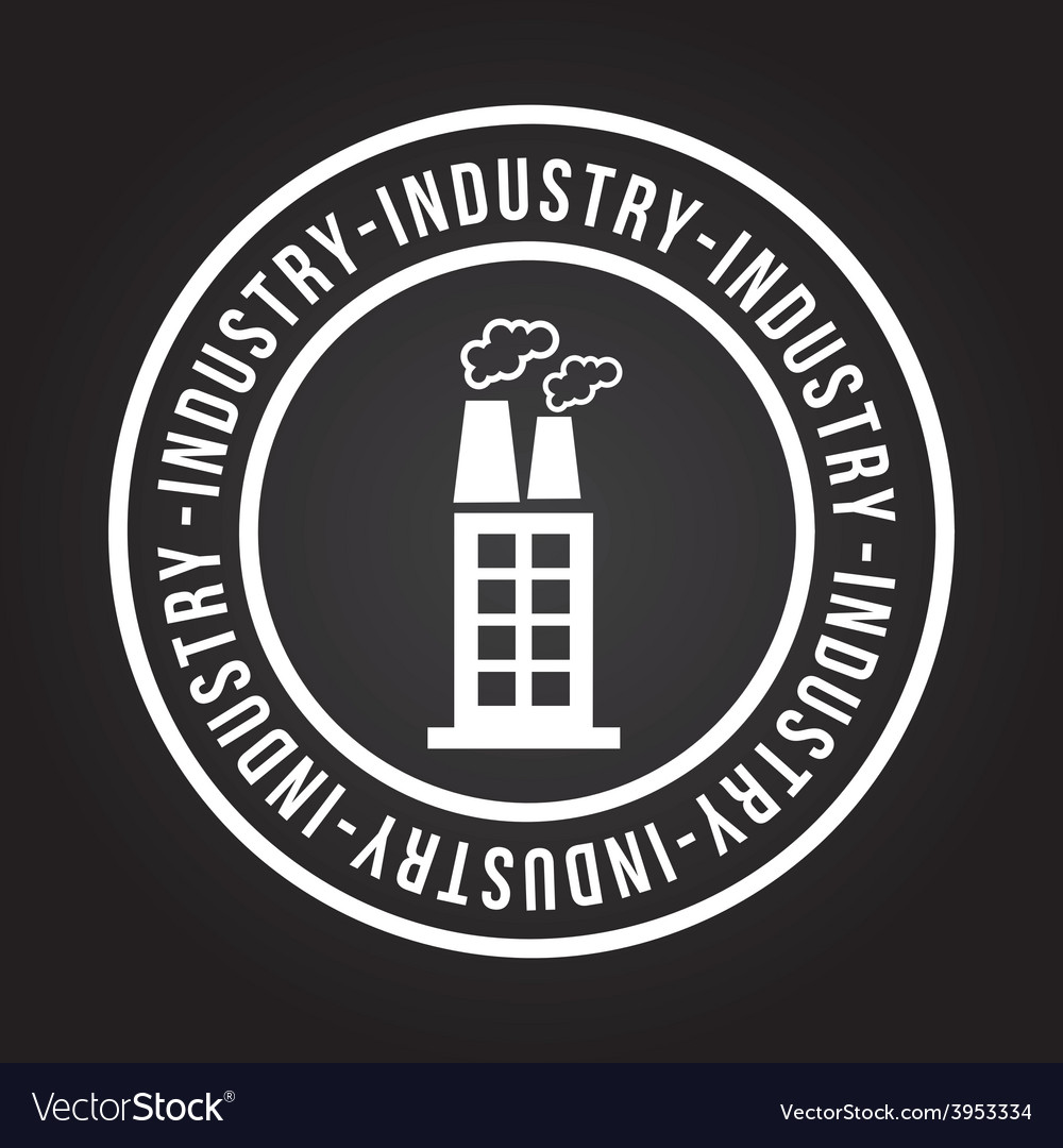 Industry icon vector