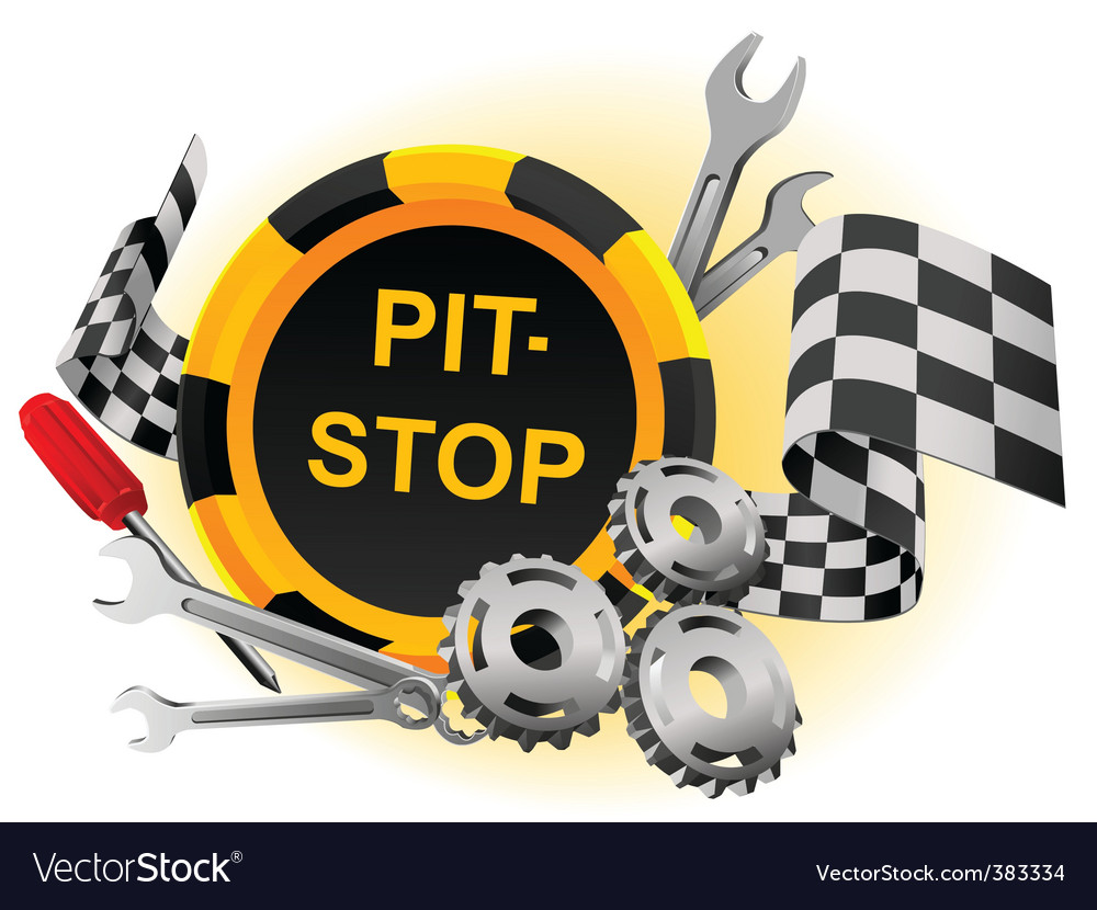 Pit stop vector