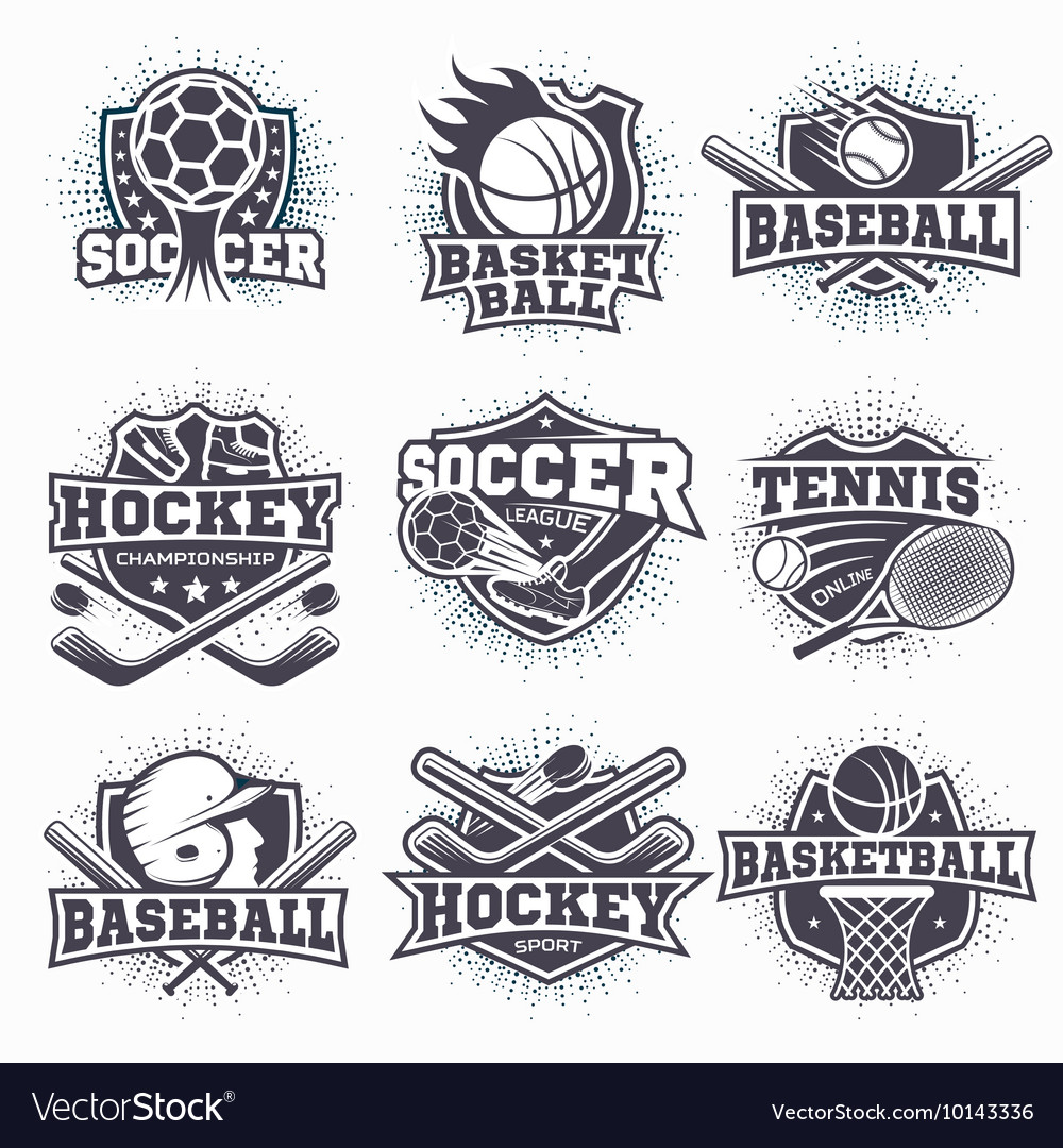 Set of sport logos vector