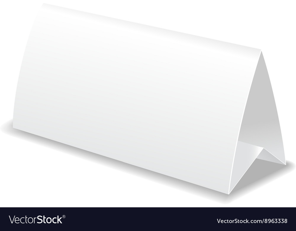 Paper table card template vector