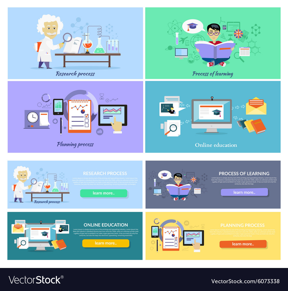 Process research planning and learning vector