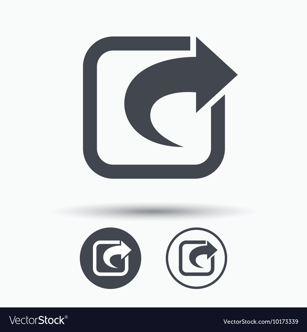 Share icon send social media information vector