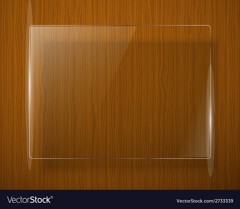 Wooden texture with glass framework eps10 vector