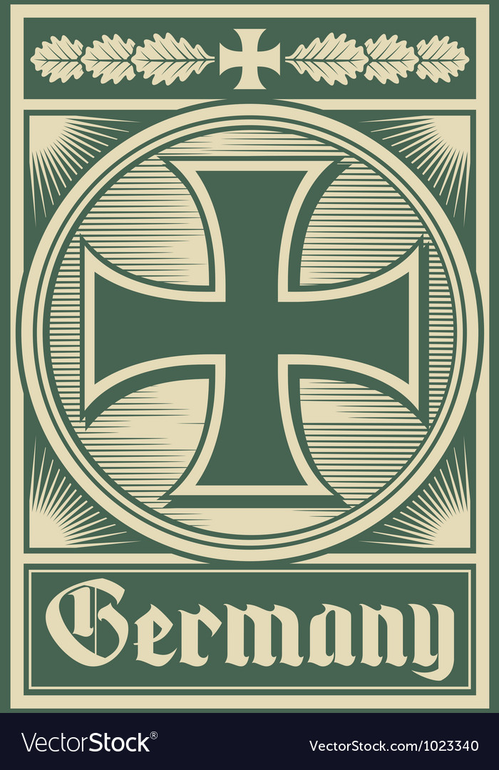 Germany poster vector