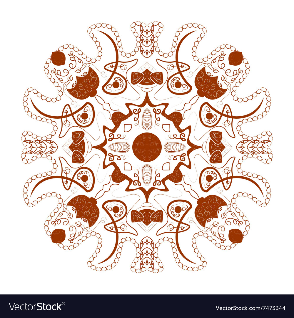 Beautiful boho mandala vector