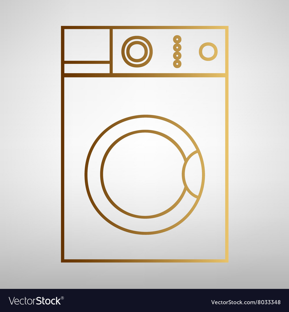 Washing machine sign vector