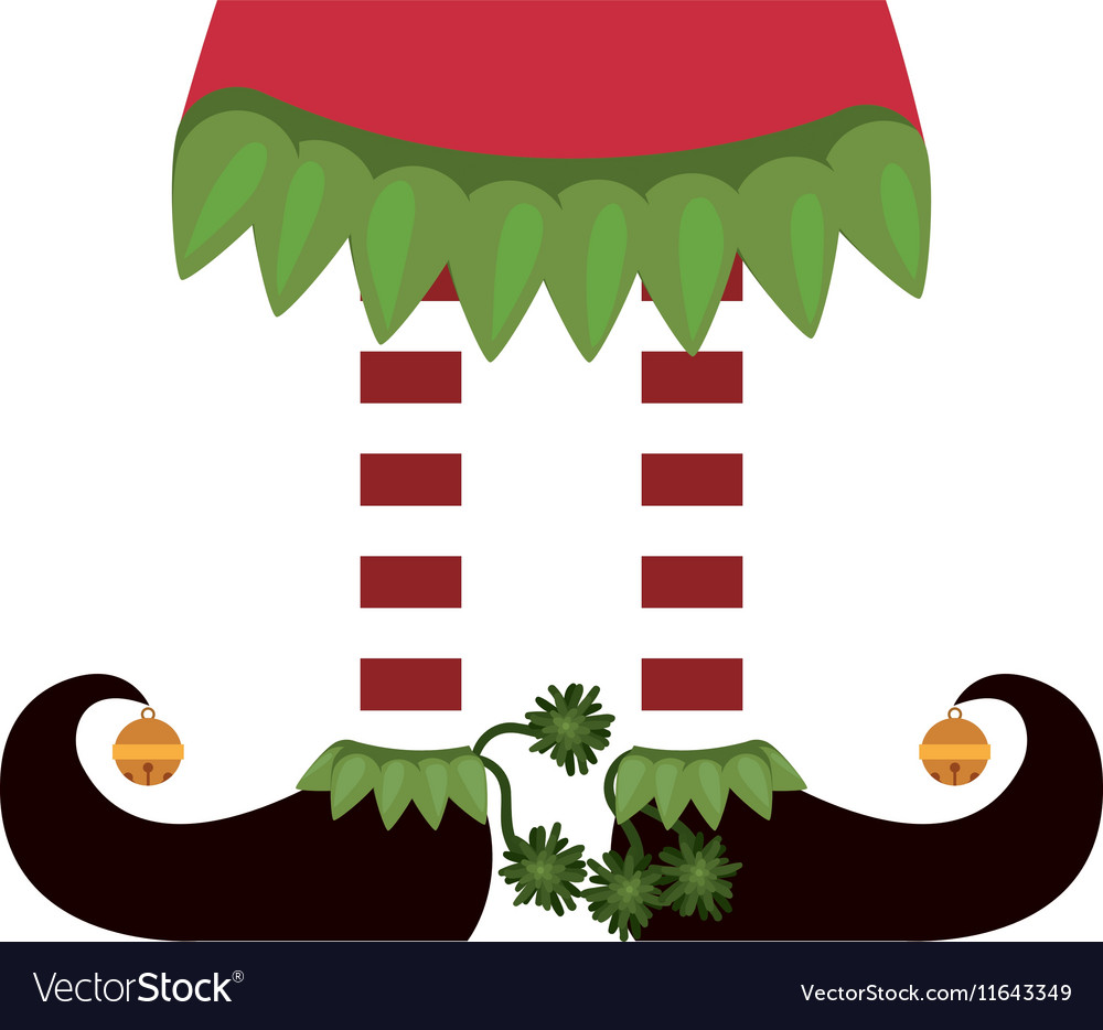 Color image with feet of gnome together vector