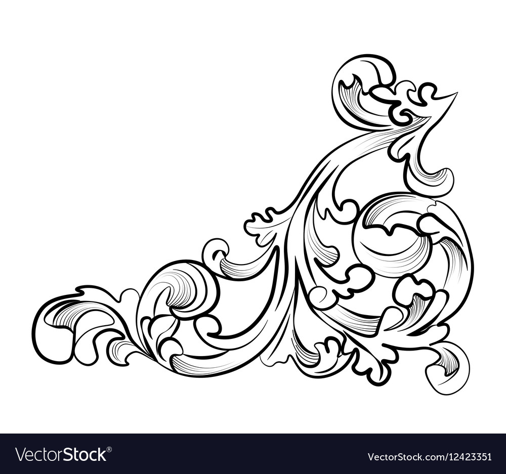 Royal classic ornament element vector