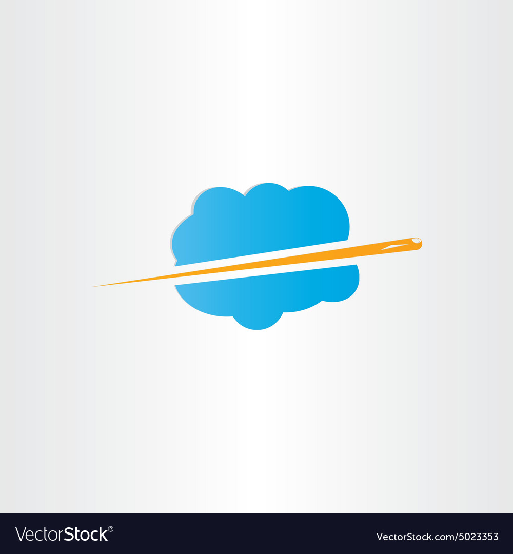 Airplane flying through clouds icon vector