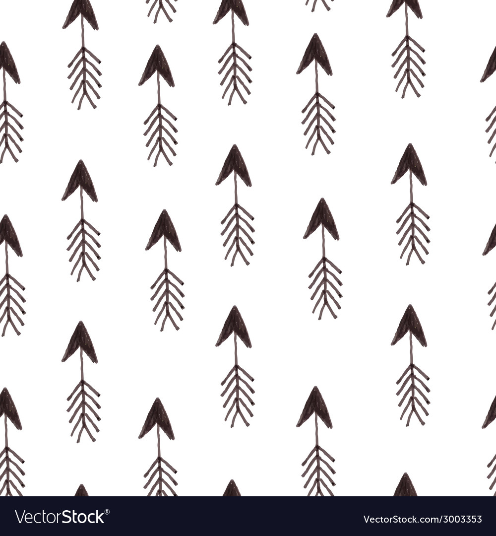 Hipster pattern with arrows vector