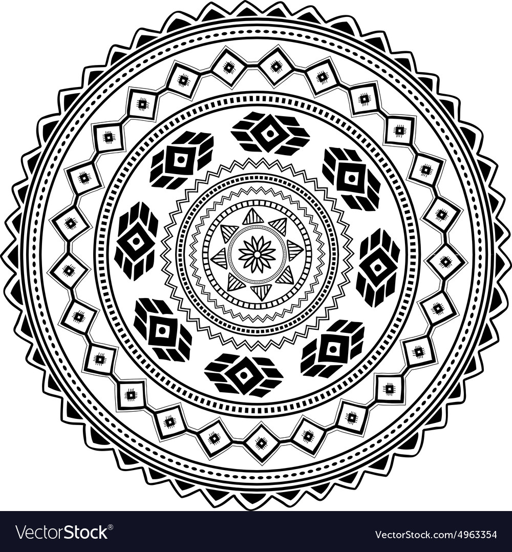 Aztec sign on white background vector