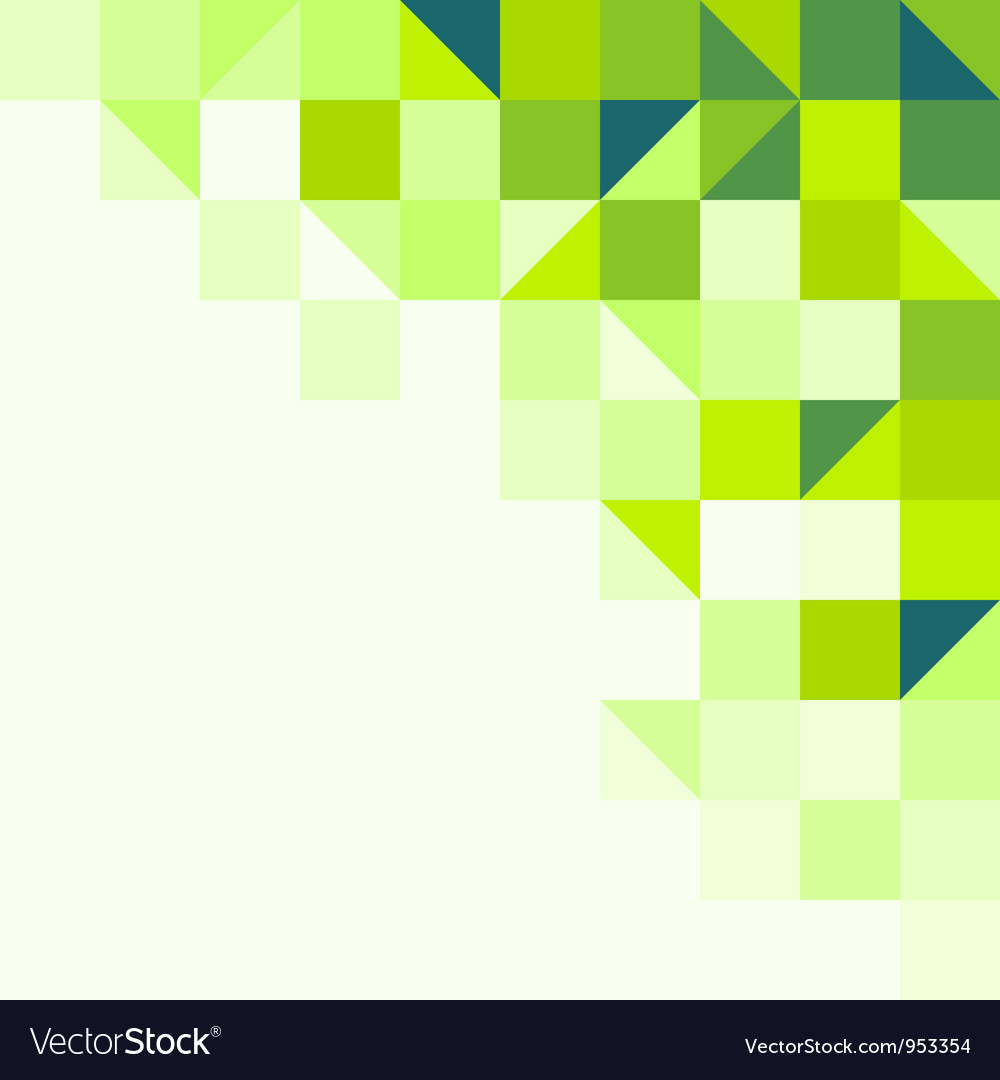 Green geometric background vector