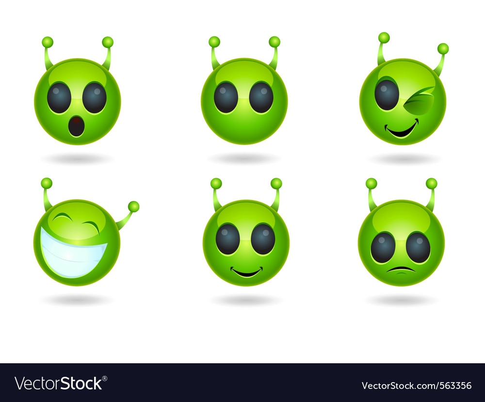 Alien faces vector