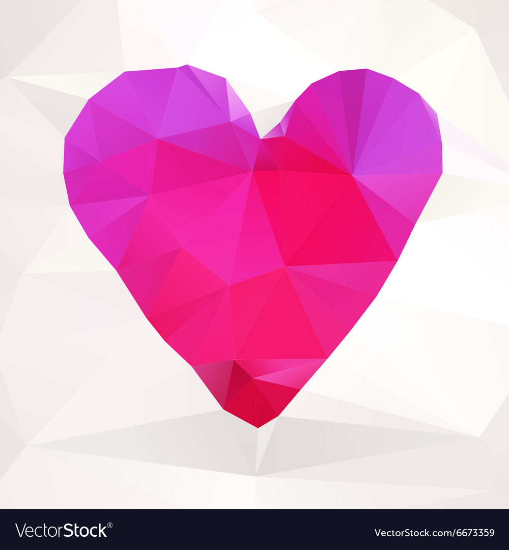 Abstract valentines heart vector