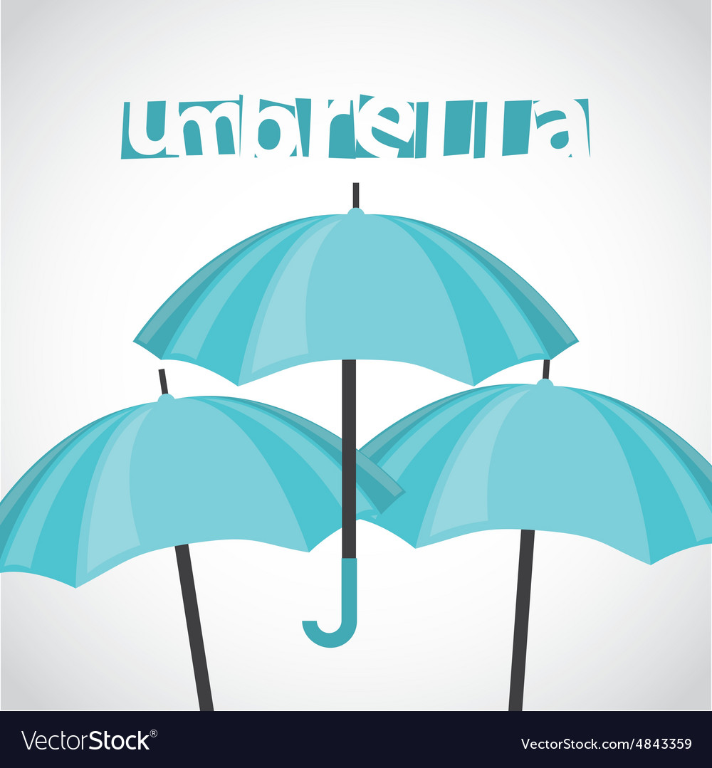 Umbrella icon vector