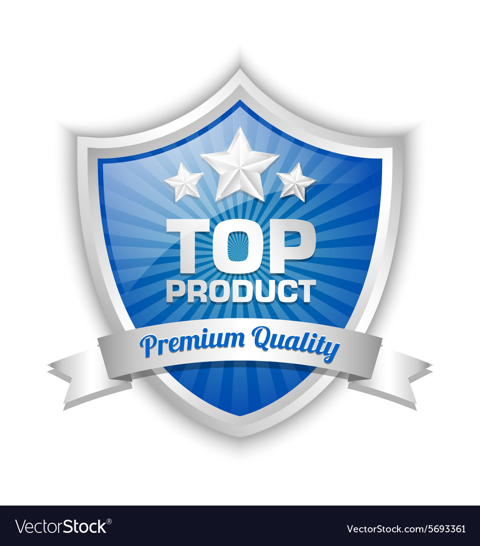 Top product shield vector