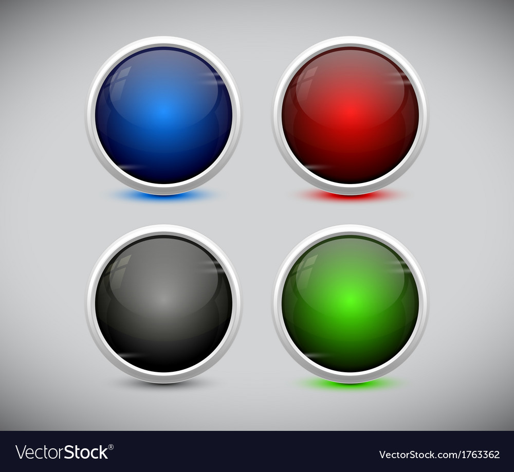 Plastic web buttons eps10 vector