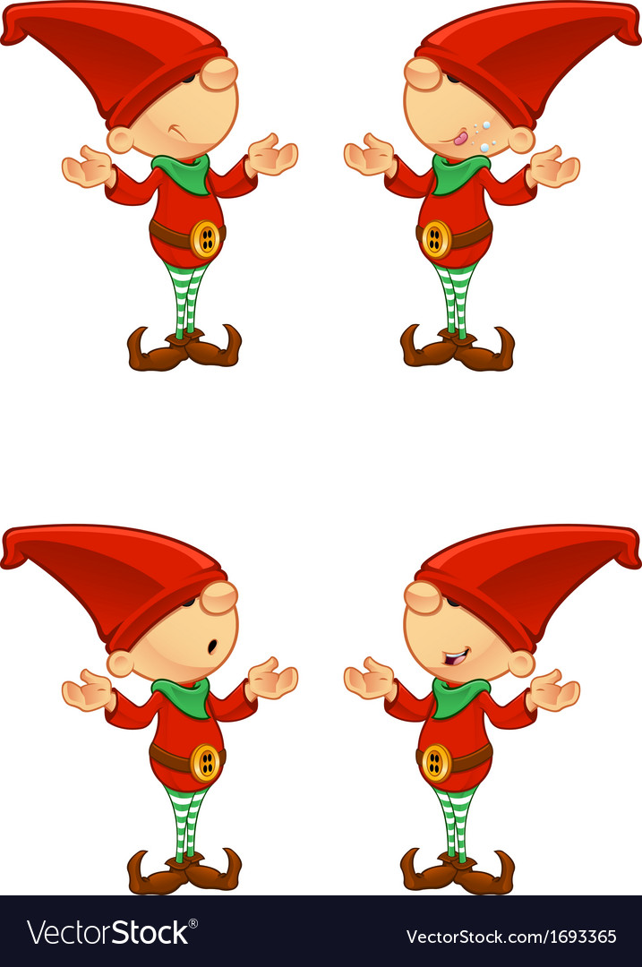 Red elf confused vector