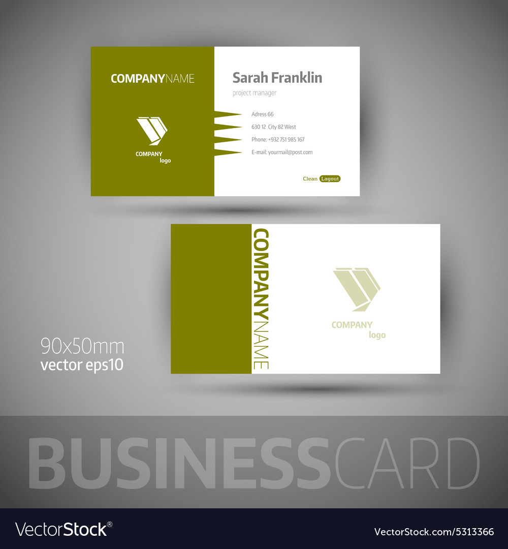 Business card template  elegant vector