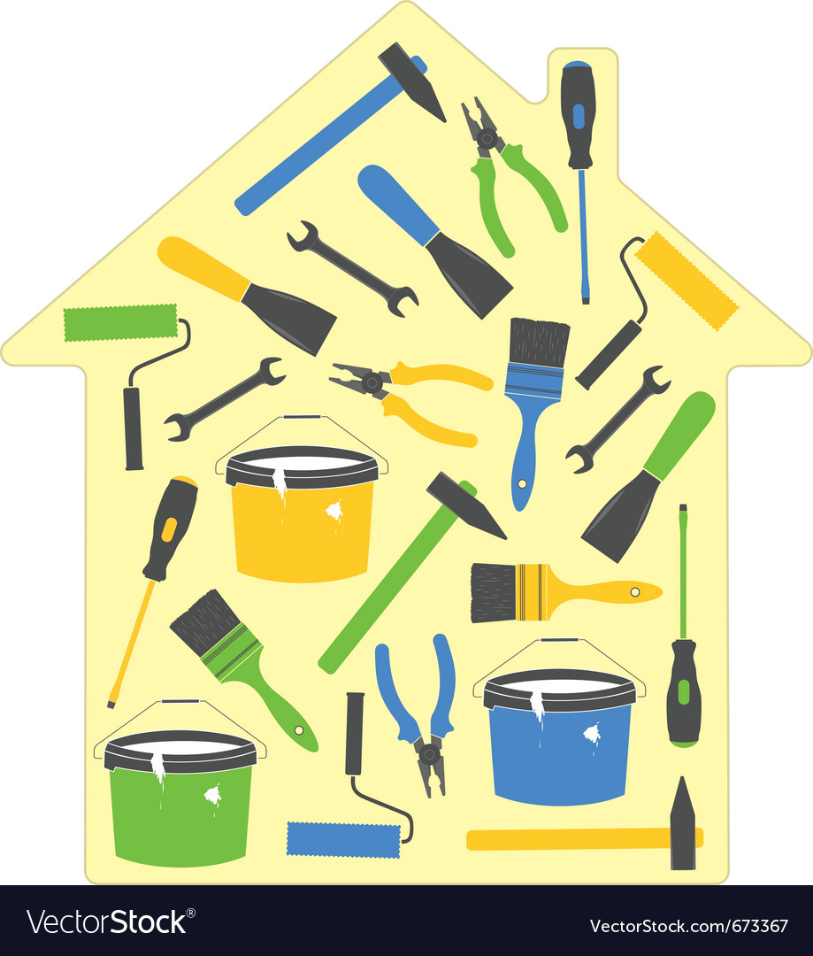 House tools icons vector