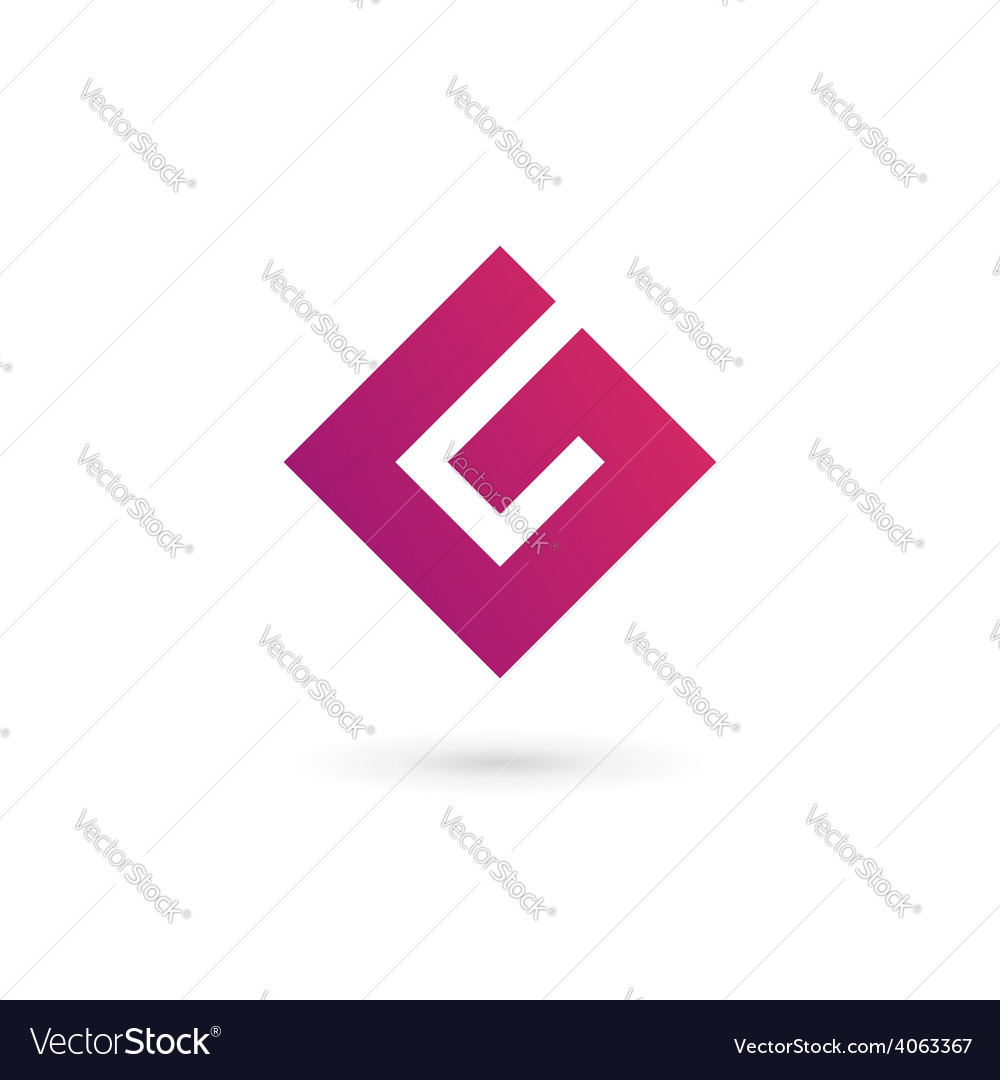Letter g number 6 logo icon design template vector