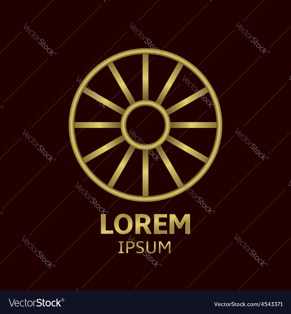 Wheel logo vector