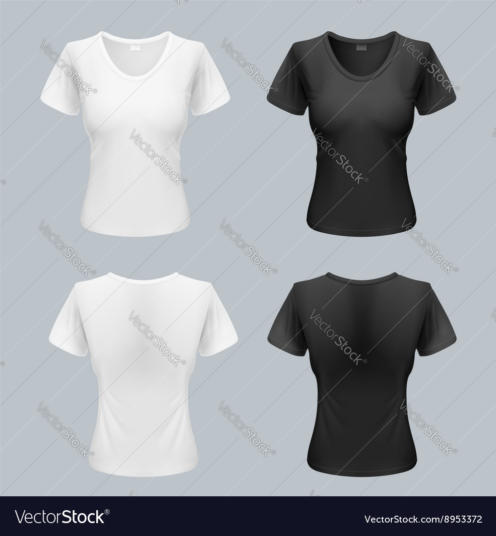 Woman tshirt vector