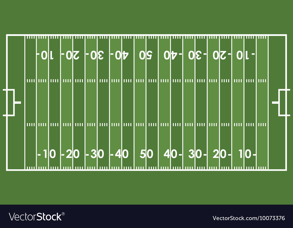 Field football american sport vector