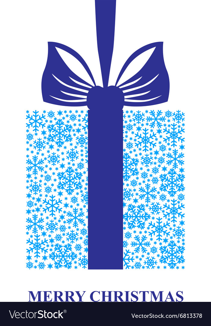 Gift snow blue vector