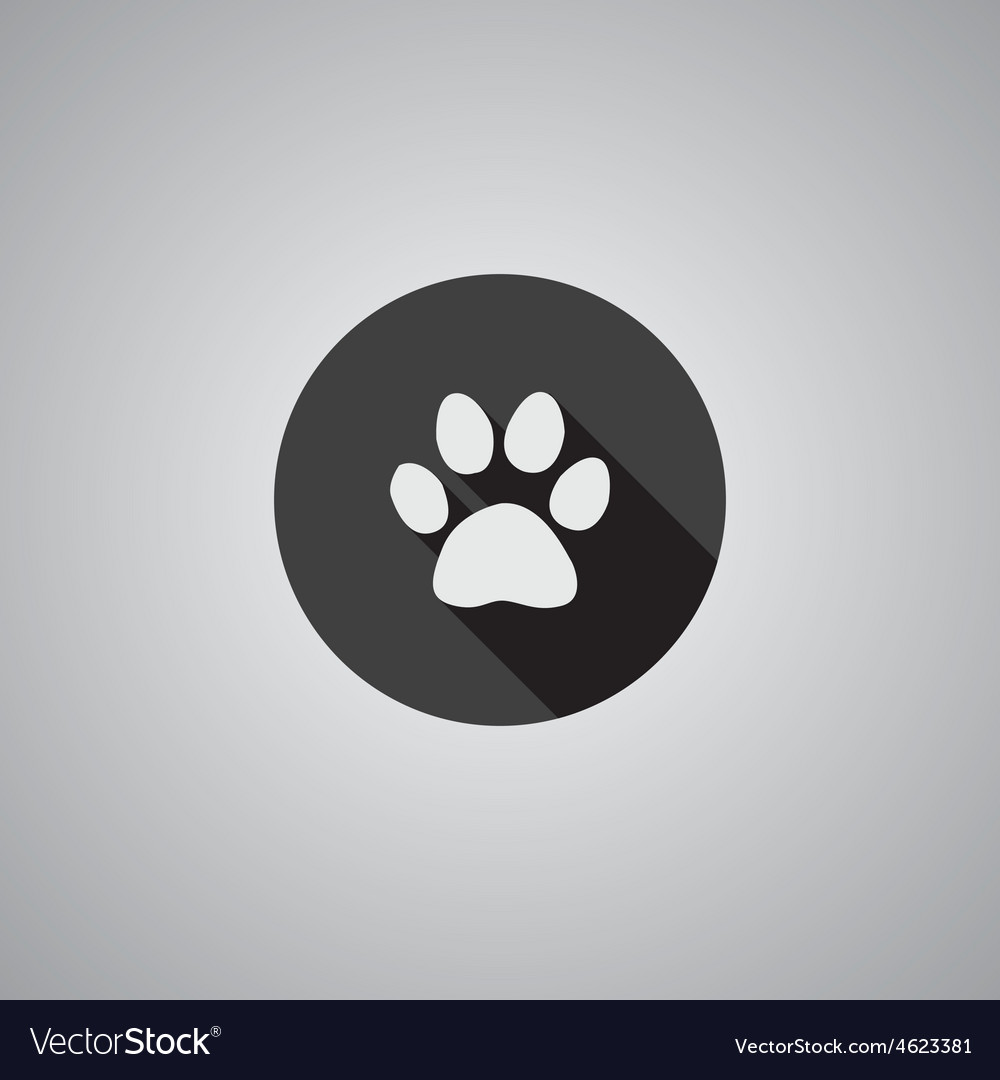 Cat footprint symbol flat vector