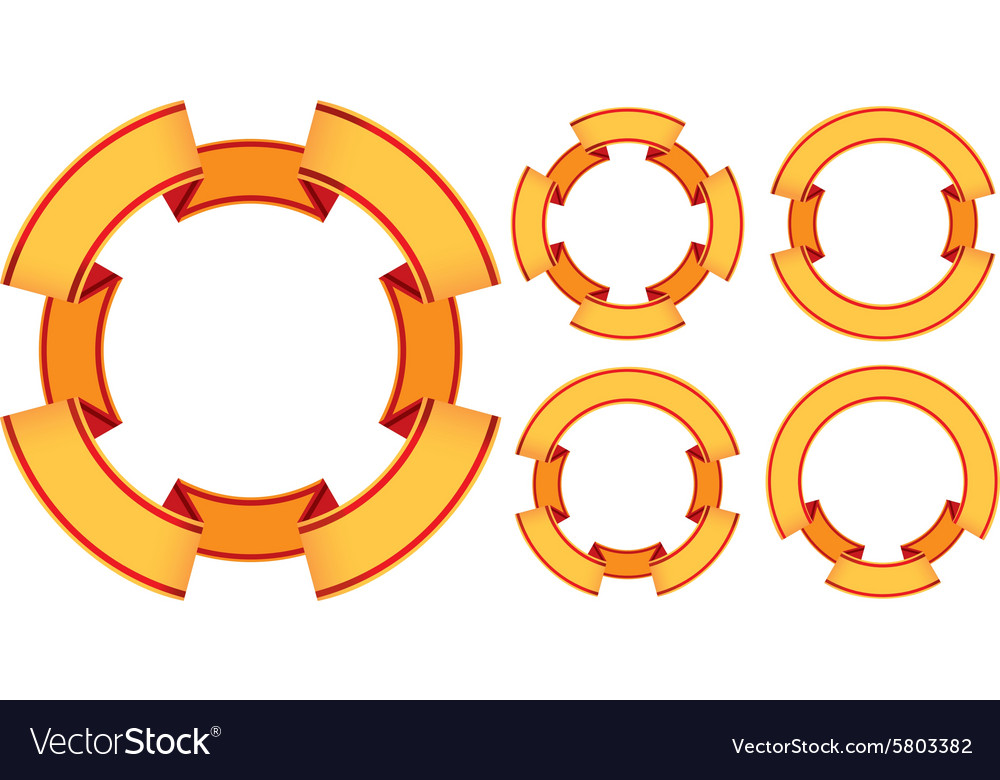 Five ribbons vector