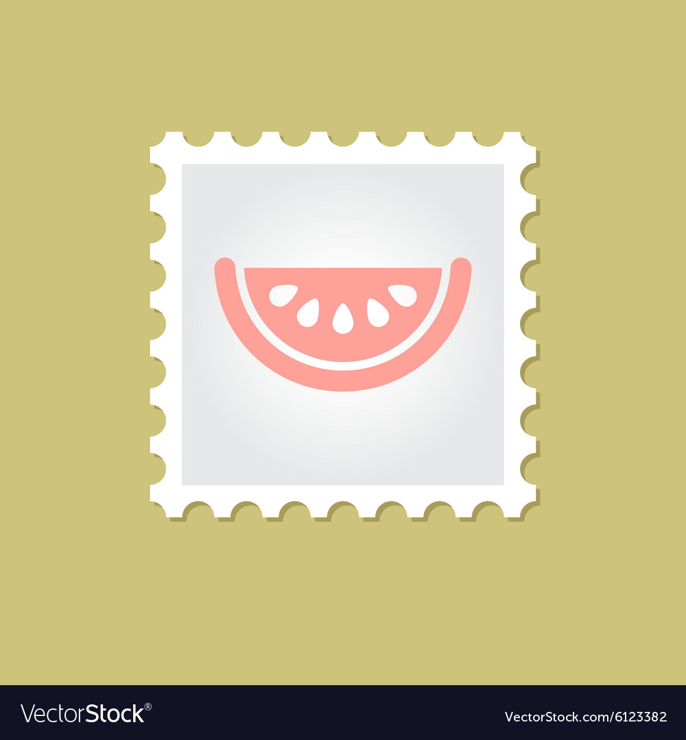 Watermelon slice stamp vector