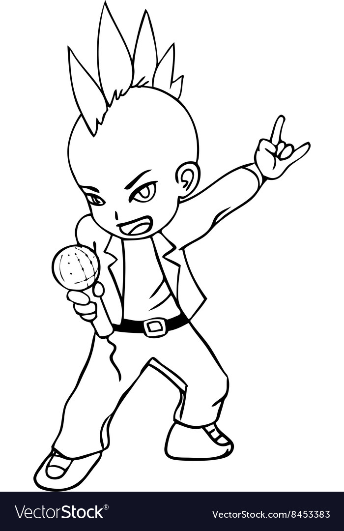 Lineart of a rocker vector
