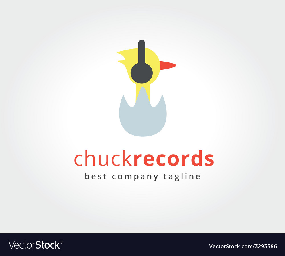 Abstract chuck with headphones logo icon concept vector