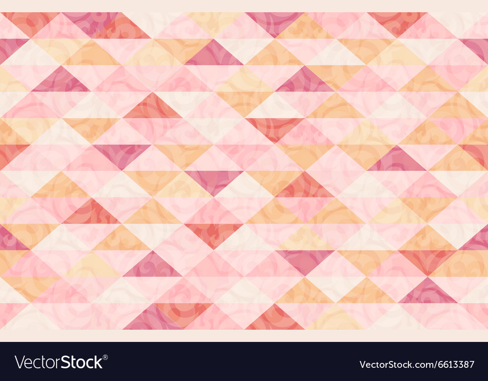 Rose quatz marble triangle pattern background vector