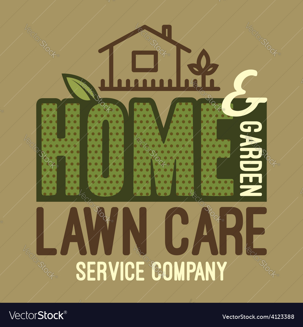 Home and garden lawn care tshirt vector