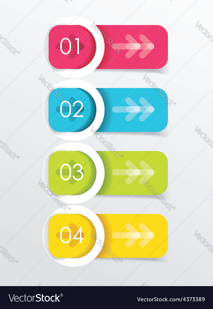 Colorful banners with white circles vector