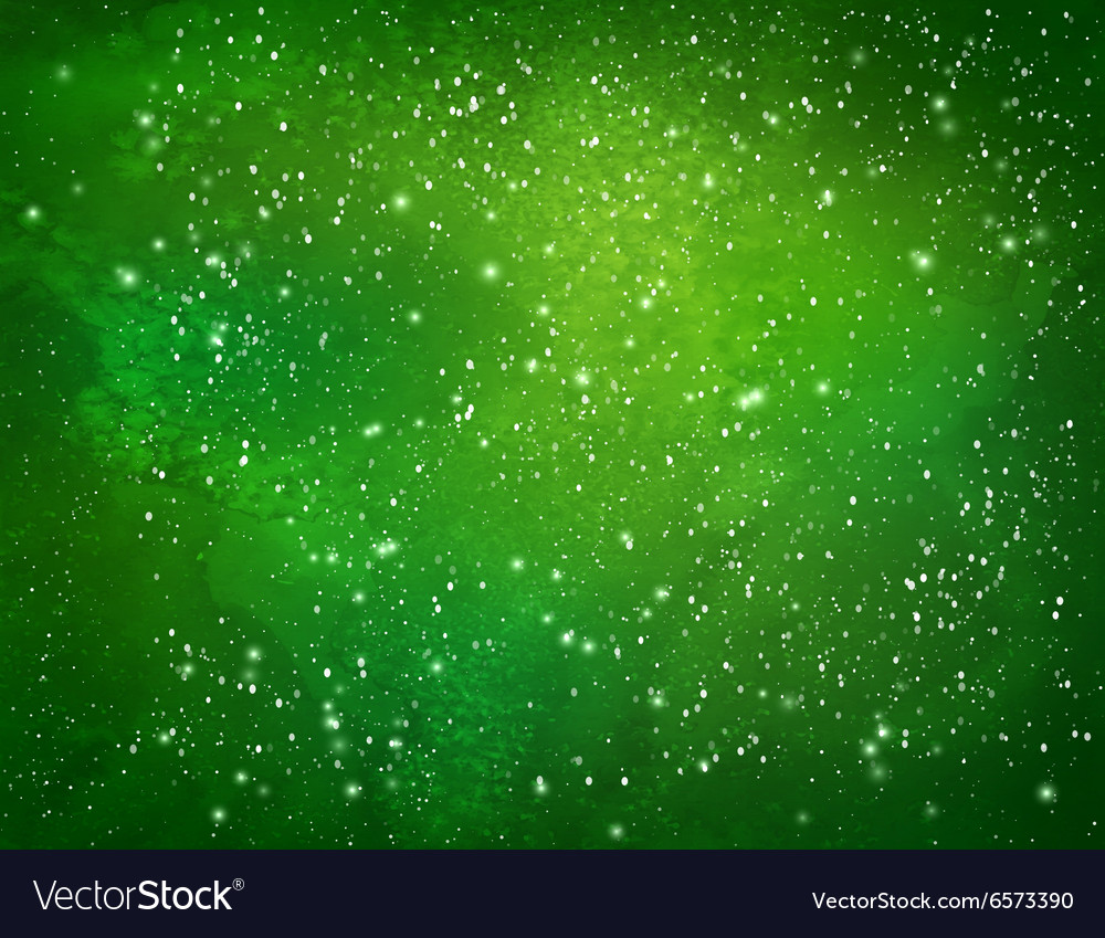 Green watercolor grunge background vector