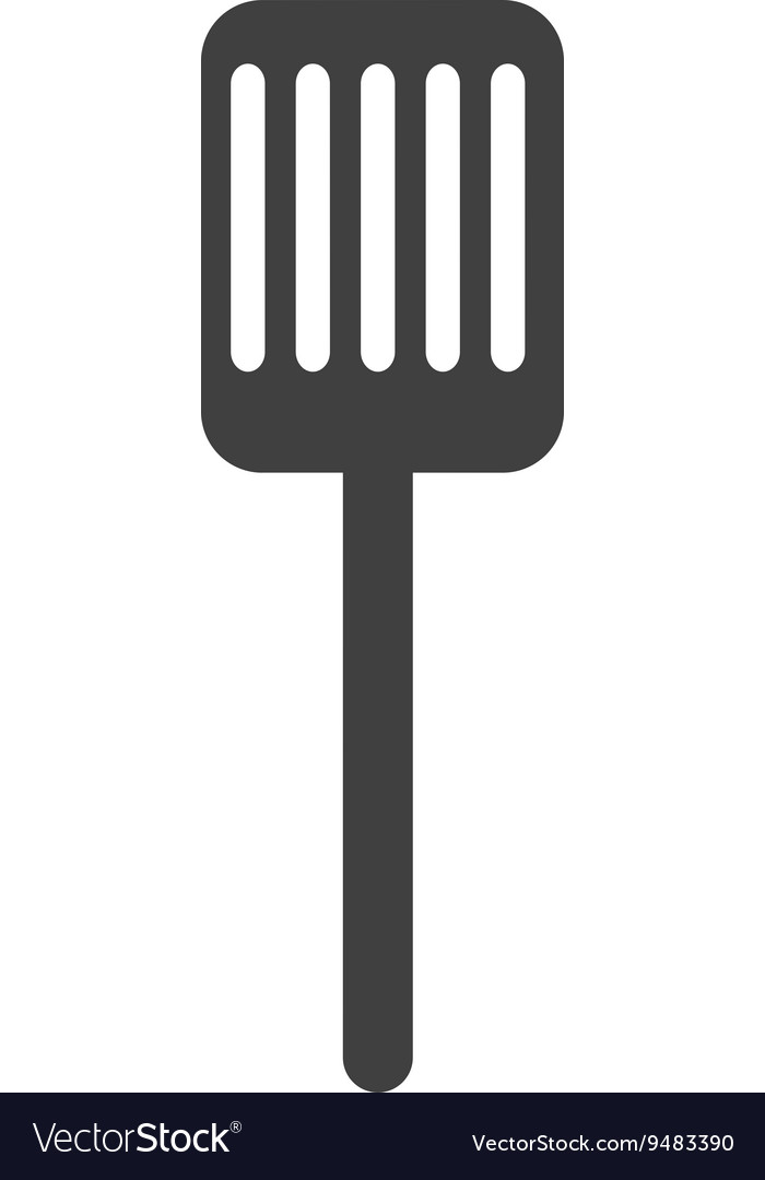 Kitchen spatula isolated icon design vector