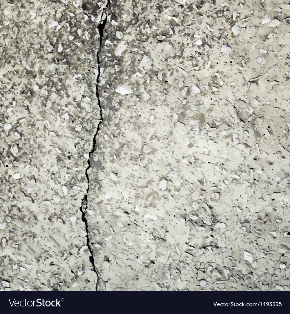 Concrete crack background texture vector
