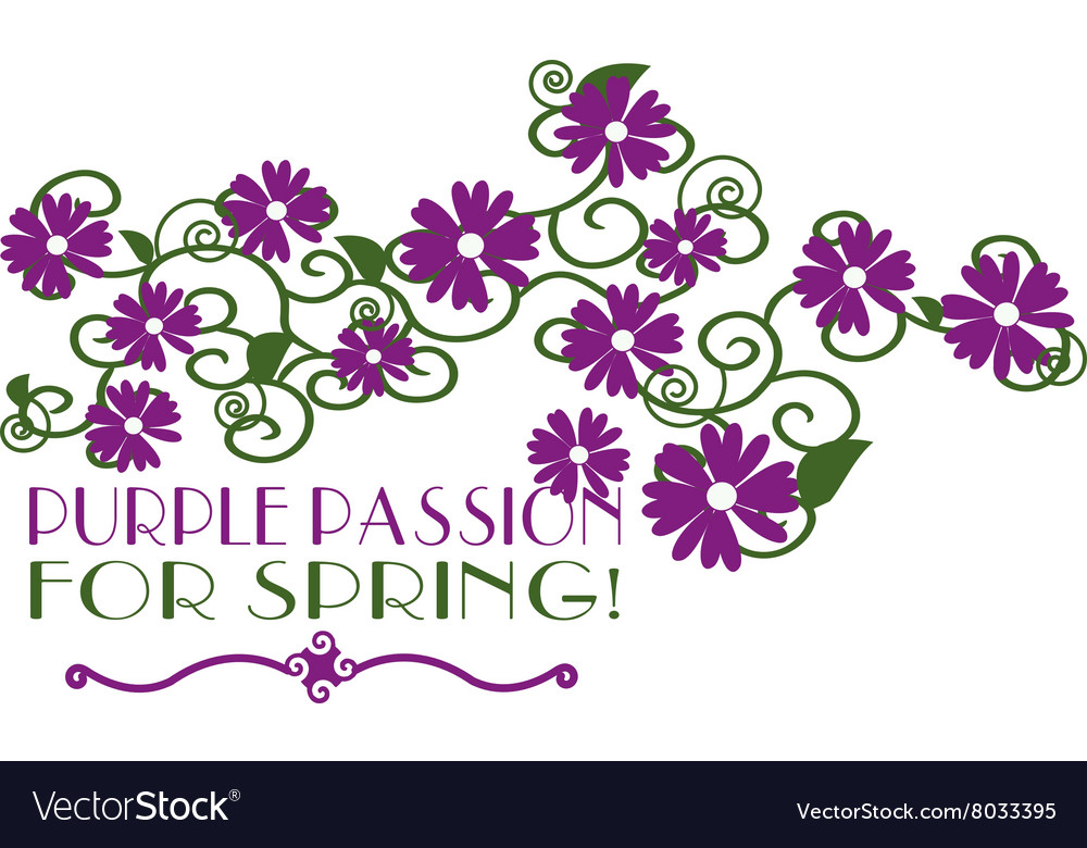 Purple passion vector