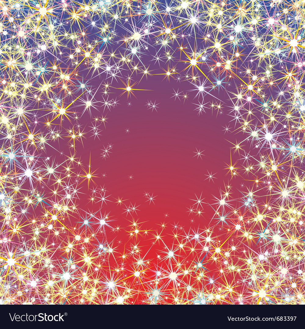 Abstract starry background vector