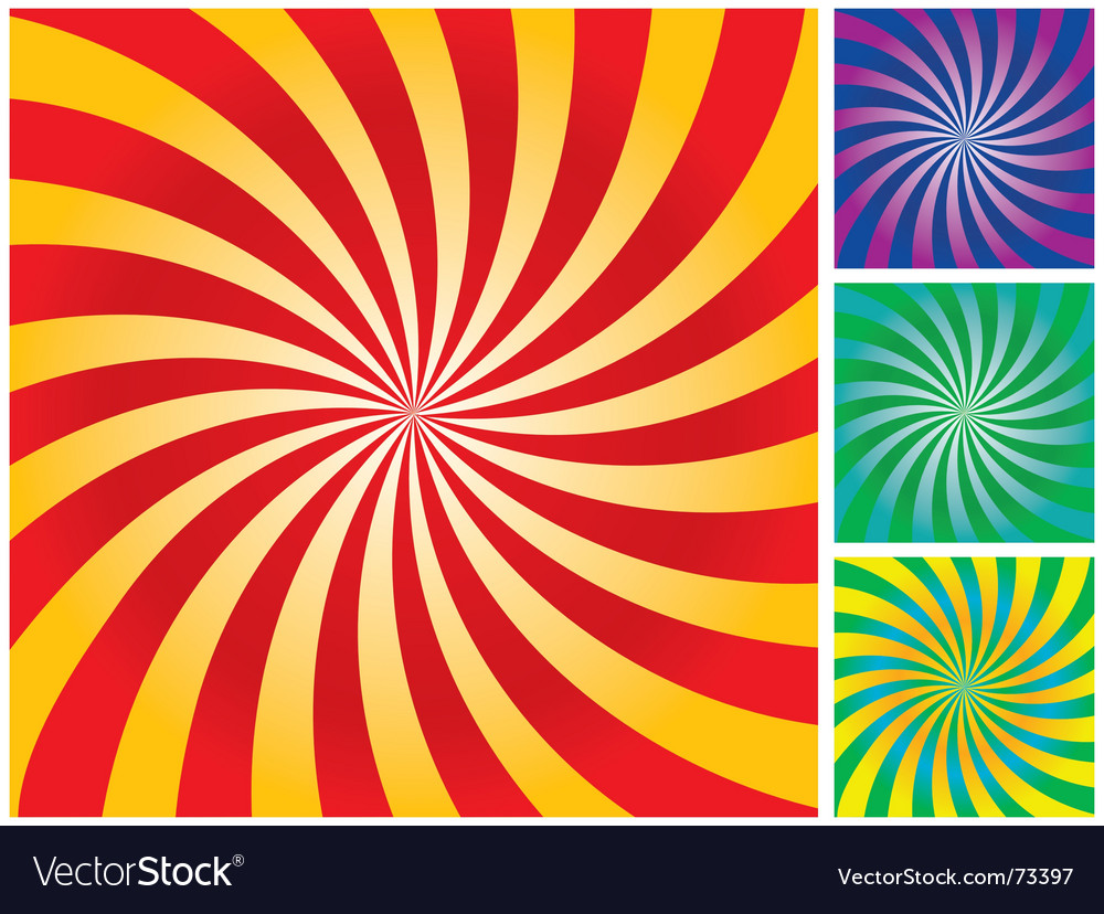 Rays gradient background vector
